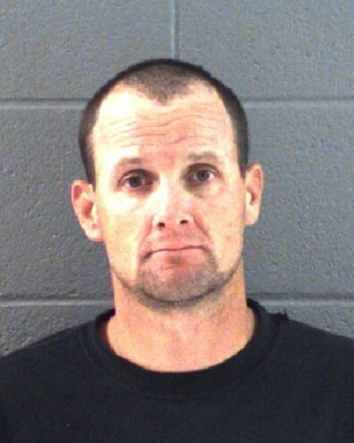 Grand County Sheriff's Office | Courtesy photo  Jared F. Ehlers, 35, accused of taking a dinosaur footprint from its resting place in slickrock near Moab, Utah.