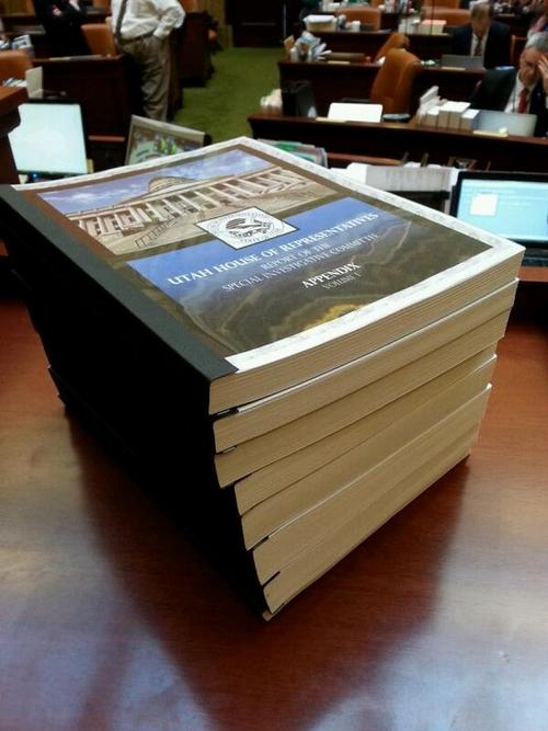 Topher Webb  |  The Salt Lake Tribune  The Utah House on Wednesday released the final 200-page report of its investigation into former Attorney General John Swallow.