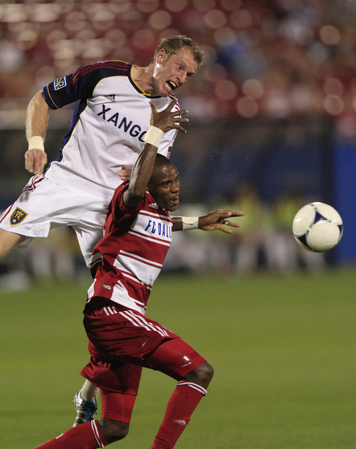 Associated Press file photo Nat Borchers, left and the RSL defense have come under scrutiny after two consecutive losses.