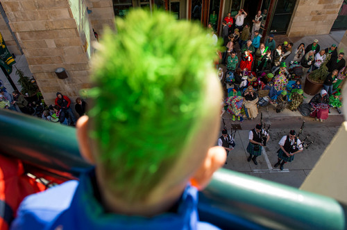 Trent Nelson  |  The Salt Lake Tribune The St. Patrick's Day Parade at The Gateway in Salt Lake City on Saturday.