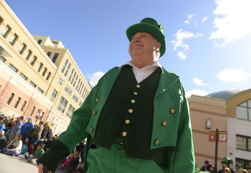 Leah Hogsten  |  The Salt Lake Tribune The Salt Lake City St. Patrick's Day Parade Saturday, March, 15, 2014 at The Gateway.