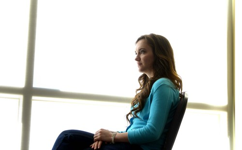Leah Hogsten  |  The Salt Lake Tribune After being sexually abused by her 9th grade teacher, Jaime Heiner now spreads awareness about sexual violence and sexual abuse against children, March, 1, 2014.