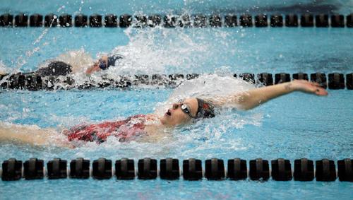 , University of Utah Swim team vs. BYU December 1, 2012 in Salt Lake City.  (Photo/Steve C. Wilson)