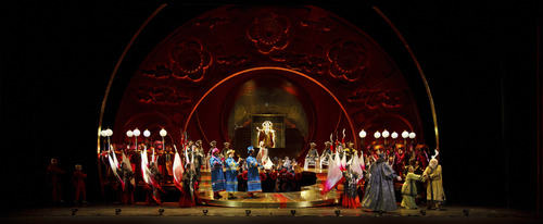 David Bachman | Courtesy Pittsburgh Opera Pageantry and energy will fill the Janet Quinney Lawson Capitol Theatre in Salt Lake City from March 15 to 23, 2014 as Utah Opera presents Giacomo Puccini's Turandot. Seen here is the Pittsburgh production of the show.