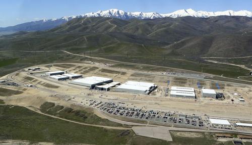 Francisco Kjolseth   The Salt Lake Tribune  An aerial view of the NSA's Utah Data Center in Bluffdale, Utah, Thursday, April 18, 2013. T