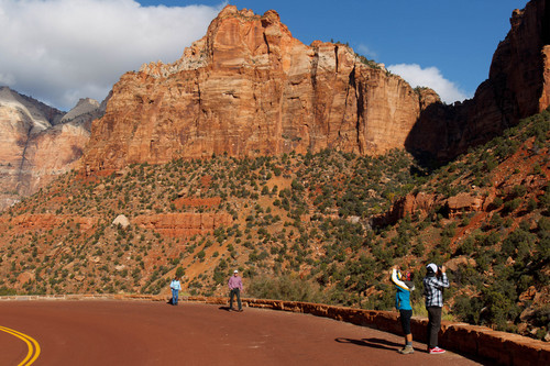 Trent Nelson  |  The Salt Lake Tribune Visitors to Zion National Park take in the sights. Tourism is a huge economic boon to the Utah economy, a new report found.