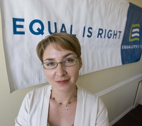 Executive Director of Equality Utah, Brandie Balken for Scene on  Monday, June 28,2010  photo:Paul Fraughton/ The Salt Lake Tribune