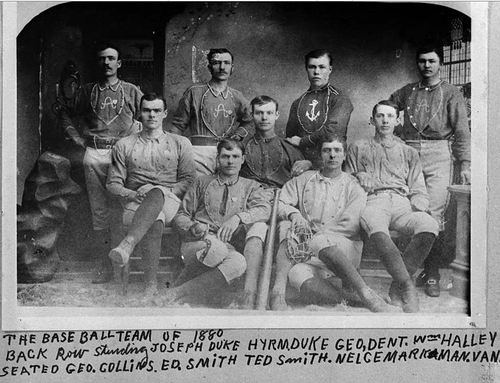 Portrait of a Provo, Utah baseball team in 1880.
