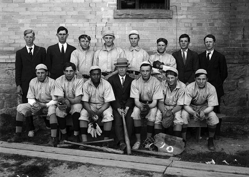 The Granite High School (Salt Lake City) baseball team in 1910.