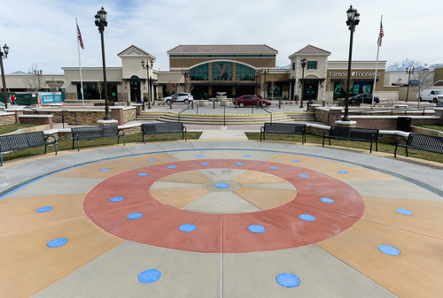 Franciso Kjolseth     The Salt Lake Tribune Many new improvements have been made at Valley Fair Mall including a dancing fountain soon to open, current construction of a new Bed Bath and Beyond, a Megaplex Theater and improvements to the surrounding grounds in West Valley City.