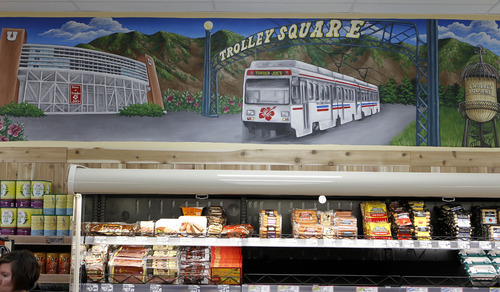Al Hartmann  |  Tribune file photo Trader Joe's 12,700-square-foot store at 634 E. 400 South in Salt Lake City features art murals depicting Salt Lake City themes. The chain is opening a second Utah location in Cottonwood Heights in 2015.