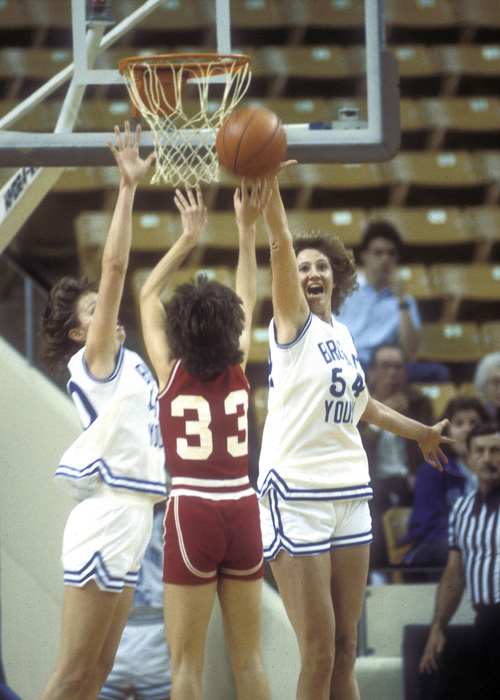 BYU women Basketball Tressa Spaulding Hansom, Jennifer Hansom's mother. Courtesy Mark A. Philbrick  |  BYU