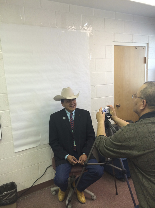 | Courtesy  San Juan County Commissioner Kenneth Maryboy, a 52-year-old Democrat from Bluff, Utah, has filed his candidacy for president of the Navajo Nation.