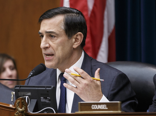 "FILE - This March 26, 2014 file photo shows House Oversight Committee Chairman Rep. Darrell Issa, R-Calif. on Capitol Hill in Washington. Issa is doggedly pursuing the question of whether military personnel were told to ""stand down"" during the 2012 deadly assault on the U.S. diplomatic mission in Benghazi, Libya, despite the insistence of military leaders and other Republicans that it never happened. (AP Photo/J. Scott Applewhite, File)"