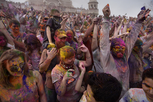Scott Sommerdorf   |  The Salt Lake Tribune The Holi festival of colors at the Sri Radha Krishna Temple in Spanish Fork, Saturday, March 29, 2014. Revelers celebrate the arrival of spring on the grounds of the temple.Scott Sommerdorf   |  The Salt Lake Tribune The Holi festival of colors at the Sri Radha Krishna Temple in Spanish Fork, Saturday, March 29, 2014. Revelers celebrate the arrival of spring on the grounds of the temple.
