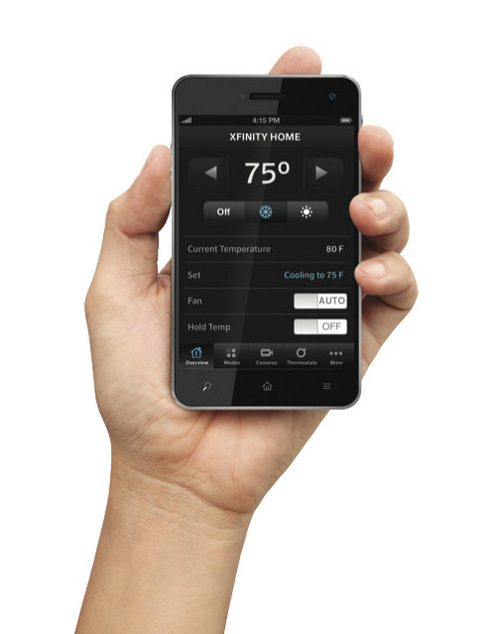 | Courtesy  Xfinity Home is Comcast's home and security automation system that can be controlled in part by your mobile phone.