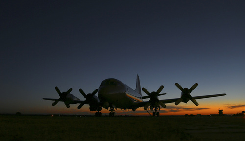 Royal New Zealand Air Force's P-3 Orion sits on the tarmac at RAAF base Peace in Perth, Australia, Wednesday, April 2, 2014. Ten planes and nine ships resume the search for the missing Malaysia Airlines Flight MH370 in the southern Indian Ocean. (AP Photo/Rob Griffith)