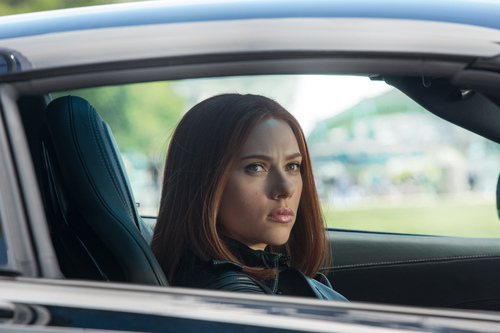 "This image released by Marvel shows Scarlett Johansson in a scene from ""Captain America: The Winter Soldier."" (AP Photo/Marvel-Disney)"