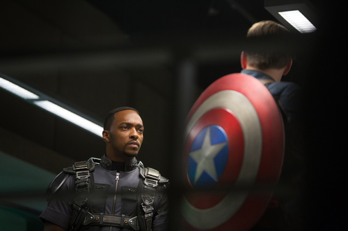 "This image released by Marvel shows Anthony Mackie in a scene from ""Captain America: The Winter Soldier."" (AP Photo/Marvel-Disney)"