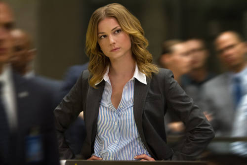 "This image released by Marvel shows Emily VanCamp in a scene from ""Captain America: The Winter Soldier."" (AP Photo/Marvel-Disney)"