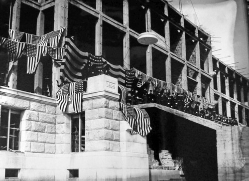 Dignitaries gather at the Utah Capitol for placement of the buildings cornerstone on April 4, 1914. Courtesy  |  Utah Historical Society