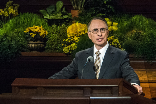 Chris Detrick  |  The Salt Lake Tribune Claudio D. Zivic, Of the Seventy, speaks during the afternoon session of the 184th Semiannual General Conference of The Church of Jesus Christ of Latter-day Saints Sunday April 6, 2014.