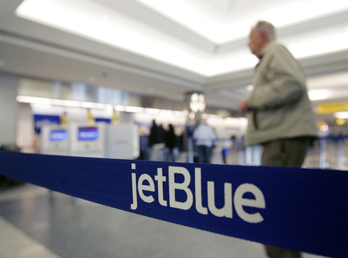 File  |  The Associated Press According to a new university report, the rate of bumping passengers from flights fell 8 percent. The best airline in that category was JetBlue Airways.