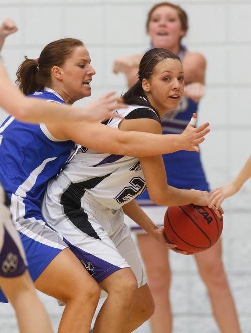 Al Hartmann  |  The Salt Lake Tribune Riverton High School's Shelby Richards, right, has been selected to the all-Tribune girls basketball team.