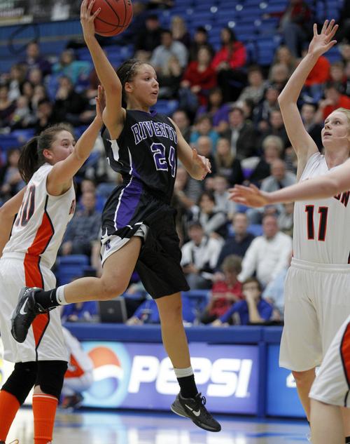 Al Hartmann  |  The Salt Lake Tribune Riverton High School's Shelby Richards has been selected to the all-Tribune girls basketball team.