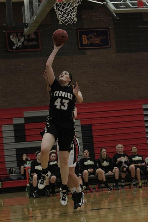 Leah Hogsten  |  The Salt Lake Tribune  Desert Hills girls' basketball team defeated Alta High School 68-52 at Alta, Friday, December 20, 2013.