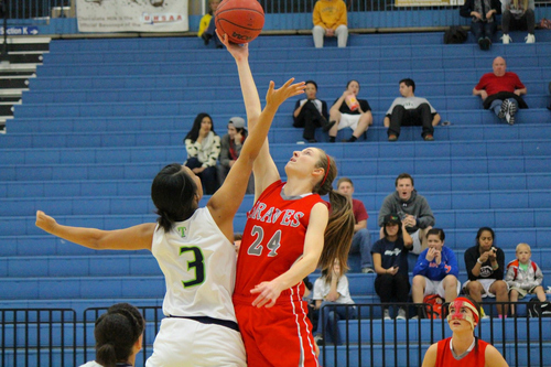 Courtesy photo  Bountiful's Kennedy Redding, right, has been selected for the 2014 all-Tribune girls basketball team.