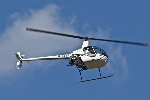 (Grand County Sheriff's photo)  Grand County, Utah, searchers are looking for a missing helicopter like the one pictured.