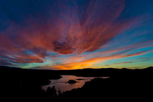 Trent Nelson  |  The Salt Lake Tribune The sun sets over the Flaming Gorge Reservoir, Thursday, March 20, 2014.