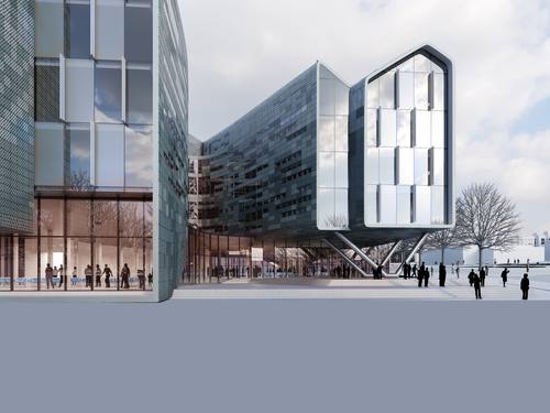 | Courtesy Lassonde Entrepreneur Institute Artist's rending of the Lassonde Studios building, slated to be completed in 2016.