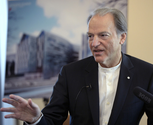 "Al Hartmann  |  The Salt Lake Tribune Pierre Lassonde, mining magnate and big-time donor to the University of Utah is giving money for a ""cutting-edge building for student entrepreneurs."""