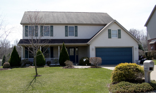 This photo taken on Thursday, April 10, 2014, shows the house where 16-year-old Alex Hribal reportedly lived in Murrysville, Pa. Hribal was charged in the stabbing attack that injured over 20 people at Franklin Regional High School near Pittsburgh, the on April 9. (AP Photo/Keith Srakocic)
