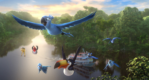 "This image released by 20th Century Fox shows a scene from the animated film ""Rio 2."" (AP Photo/20th Century Fox- Blue Sky Studios)"