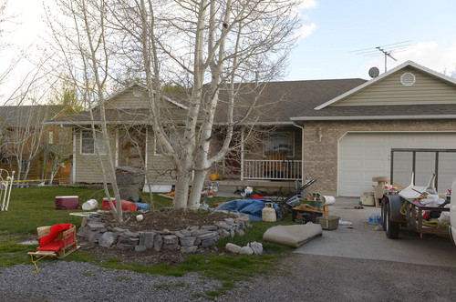 Leah Hogsten  |  The Salt Lake Tribune The Pleasant Grove home Sunday, April 13, 2014, where 7 dead babies were discovered on April 13, 2014. 39-year-old Megan Huntsman was arrested and booked on suspicion of six counts of murder. Police say she may have had the babies and killed them all over the last decade. Police believe she gave birth to the babies then killed them over the past decade, according to a police news release.