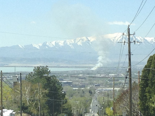 Jim Dalrymple II  |  The Salt Lake Tribune A brush fire burned about six acres near Utah Lake April 14.