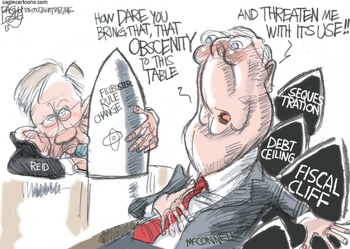 Cartoons by the Tribune's Pat Bagley.