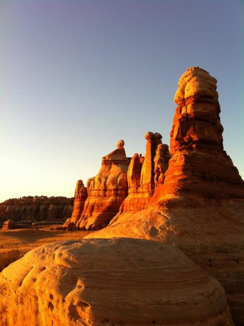 Courtesy of Shane Farver The sun sets on Chesler Park in Canyonlands National Park.