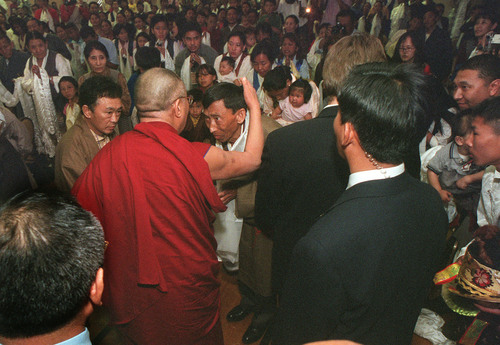 Rick Egan  |  Tribune file photo In 2001, the Dalai Lama spent four days charming and enlightening various groups in Utah, speaking at hospitals, Symphony Hall, the University of Utah and to the state's close-knit Tibetan Buddhist community. His laugh was unforgettable. Here he is at Holy Trinity Greek Orthodox Church in Salt Lake City.