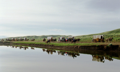 Rick Egan |  Tribune file photo Tribune reporters and photographers followed the four-month-long 1997 Mormon Wagon Train re-enactment from Illinois to Salt Lake City, writing about it daily -- and producing special sections periodically.