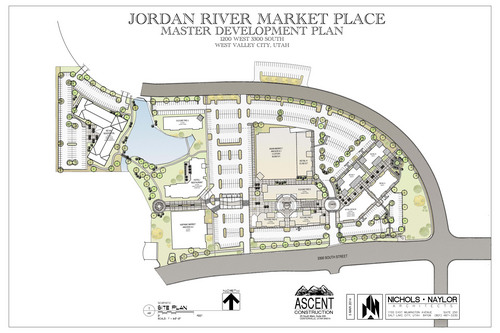 Proposed site plan of the Jordan River Marketplace. Courtesy image