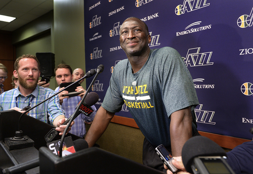 Scott Sommerdorf      The Salt Lake Tribune Utah Jazz head coach Ty Corbin speaks to the media on the day the Jazz clean out their lockers after a disappointing 25-57 season, Thursday, April 17, 2014.