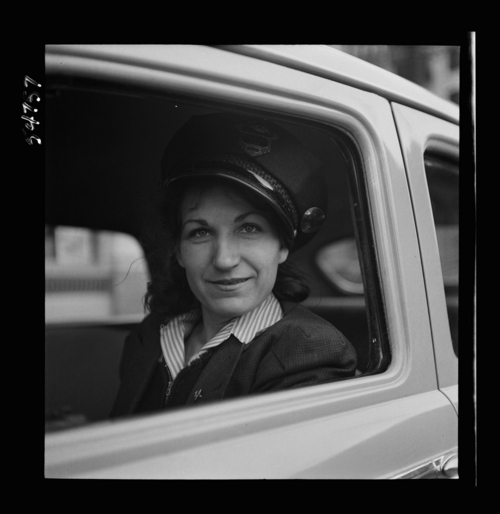 photo courtesy Library of Congress  This group of photos from the Farm Security Administration shows a group of women who were trained as bus and taxi drivers in Salt Lake City in 1942. None of the people in the photos are named so if you happen to have any information about who any of these people are, please let us know.
