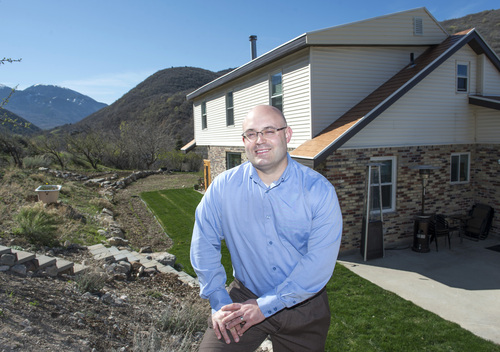 Rick Egan  |  The Salt Lake Tribune  Real Estate Consultant, Aaron Drussel, sold the home of retired BYU professor Kay Mortensen's home after the professor was tied up and murdered in it. Friday, April 11, 2014