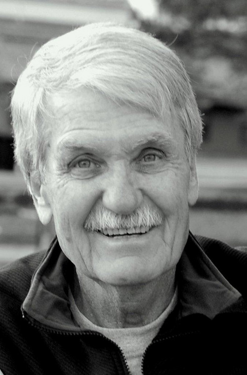 """(Courtesy photo) Caregivers for Ned Shepherd, who was diagnosed with Frontotemporal Degeneration before his death in 2011, included his wife, Bonnie Shepherd, and his grandson, Ben Shepherd. They were interviewed for a new book, """"Framing Dementia,"""" produced by University of Utah Honors College students."""