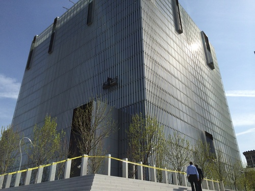 Steve Griffin  |  The Salt Lake Tribune  Police responded Monday, April 21, 2014, to a report of a shooting at the new federal courthouse in downtown Salt Lake City.
