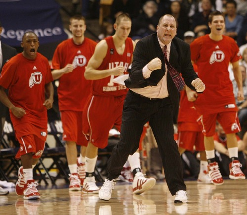 Jim Boylen, coach of the Utah men's basketball team, was fired Saturday after posting his second losing season in a row. (Tribune file photo)